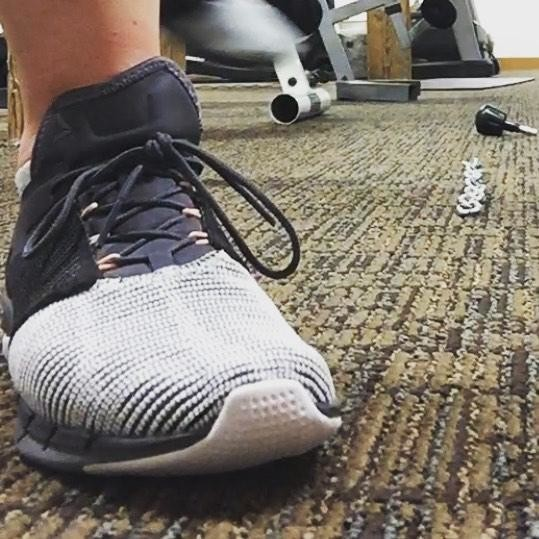 BAM! check out my new #flexweave kicks! I'm defiantly a fan of these - so light - so flexible - sometimes I forget I'm wearing shoes. Well done @reebok well done Using them for my #fastestfeet challenge #complimentsofreebok