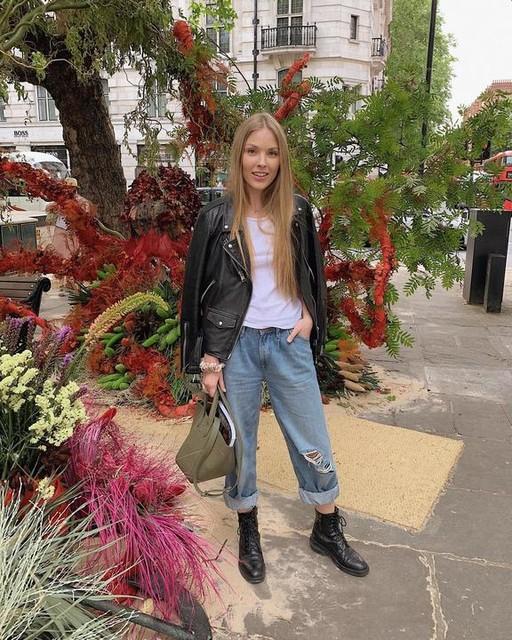 lisastarchak - Billie Leather Biker Jacket