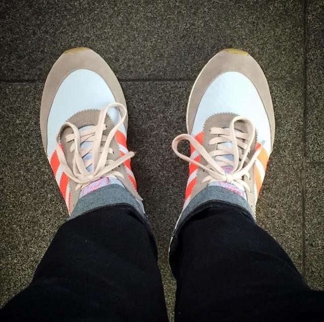 Bringing my iniki game to London. Love this colour way. #adidas #iniki #london #sneakers #travel