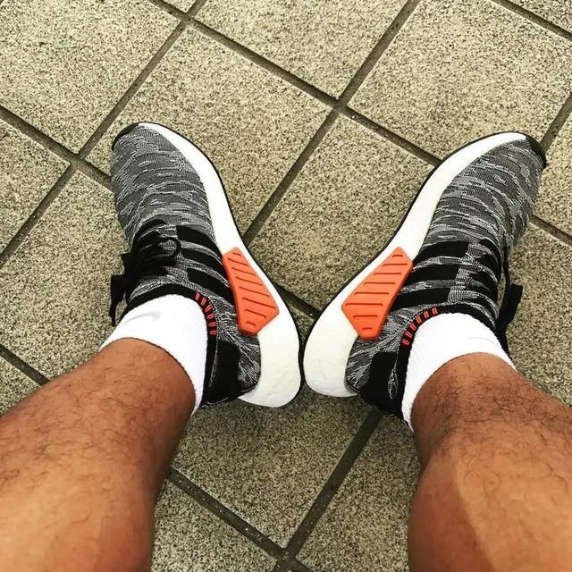 早速貰った新しい👟を履いて帰ります^_^ #adidas#nmd#present