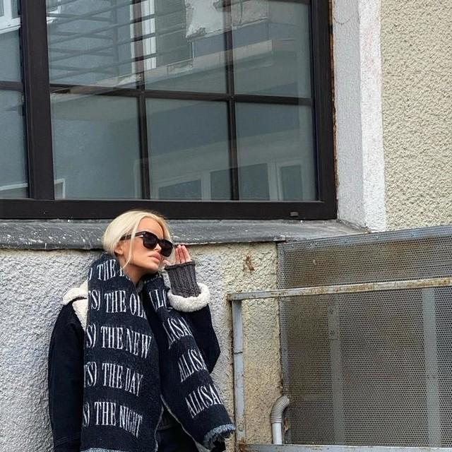 madwish - Varsity AllSaints Wool Blend Woven Scarf