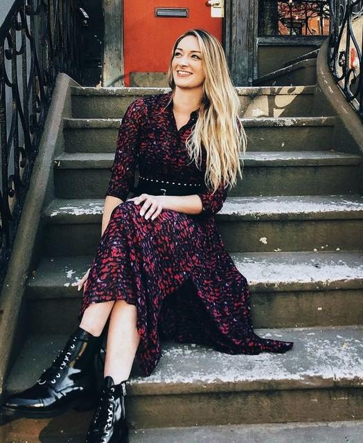@ashleyzeboski - Abito Eley Plume - Vintage con motivo multicolore