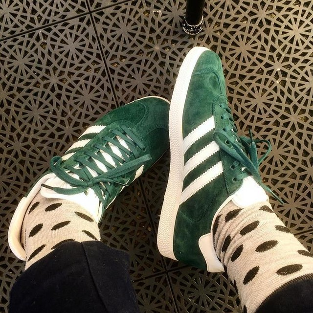 Mine at last! #gazelle #adidas #sneakers #shoes #polkadotsalways #treat #mysecretpleasure