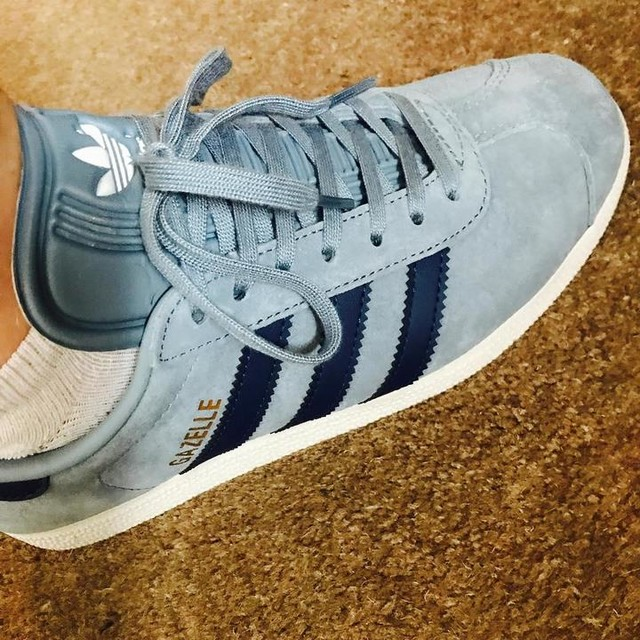 Wearing these beauties today #adidas #gazelle 💙
