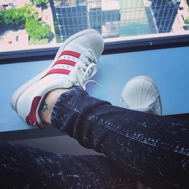 """""""You know,"""" she said. """"Missing someone can sometimes be the best thing for a writer."""" #quote #sadgirls #langleav #mynotebook #officeview #adidas #superstar #80s #vintage #deluxe #shoefie #myfavorite #allthetime #onlyTuesday #instashoes"""