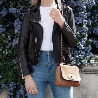 Joanna - Balfern Leather Biker Jacket