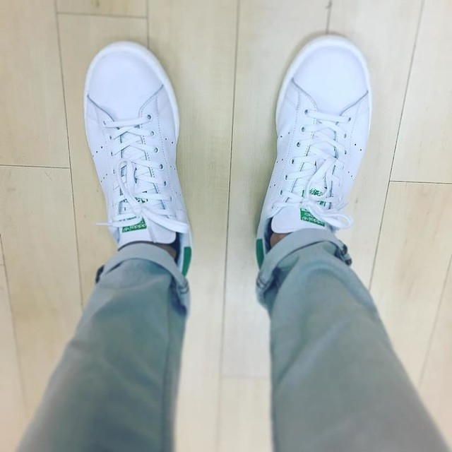 Never have enough of white trainer  #stansmith #green#white
