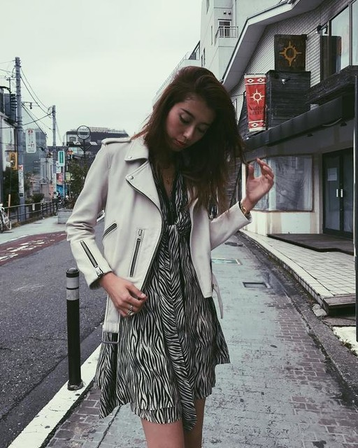 ALLSAINTS JAPAN - Jayda Zebra Silk Dress