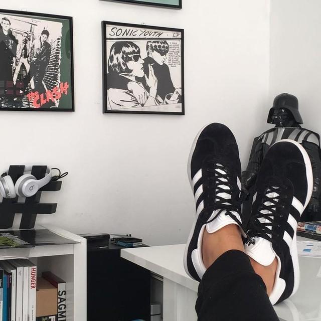 adidas gazelle schuh schwarz adidas deutschland. Black Bedroom Furniture Sets. Home Design Ideas