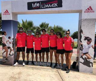 Todos listos para lifelima42k este 19 de Mayo! Aquí con una parte de los coaches y support runners de mi team adidasrunners adidaspe #heretocreate