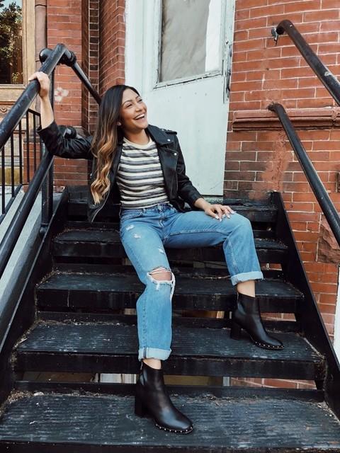 Monica Batista - Balfern Leather Biker Jacket