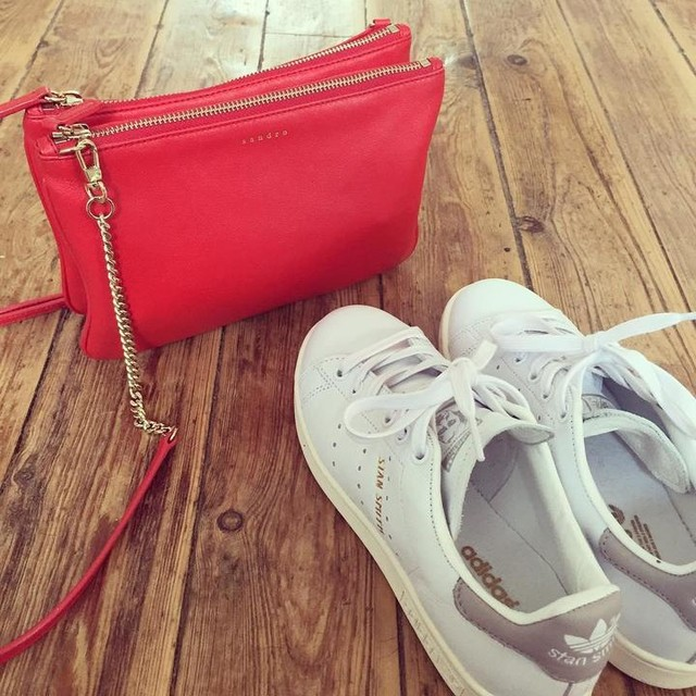 Stan Smith ✖️Sandro ☀️😍 #springfavorites #spring #sandro #stansmith #fashion #shopping #red