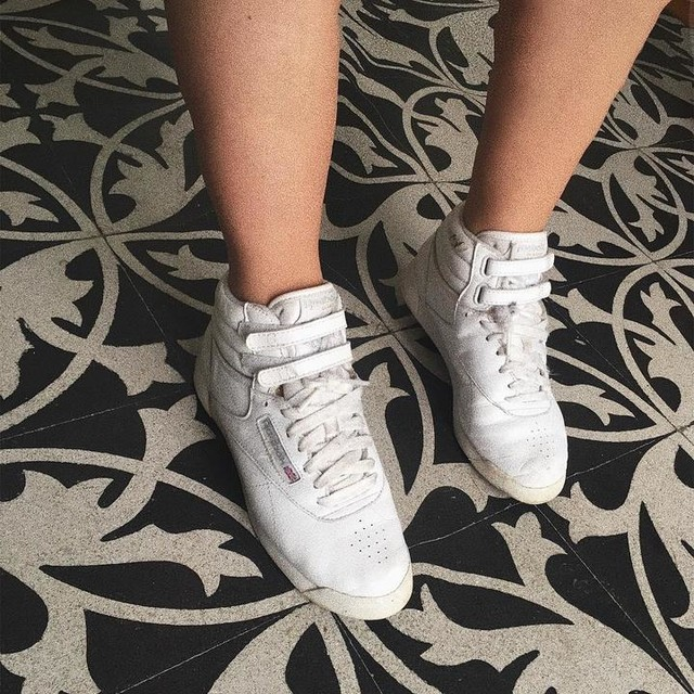 Reebok Love 👅 #potd #photo #photooftheday #selfie #me #today #goodlife #goodvibes #reebok #reebokclassic #blackandwhite #oldschool #shoes #shoeporn #streetstyle  #love #girl #ootd #look #fashionista #fashion #whatiwore #igers #daily #instagood #instalike #instafashion