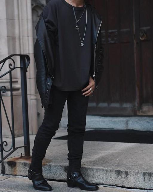 marc.costales - Kaho Leather Biker Jacket