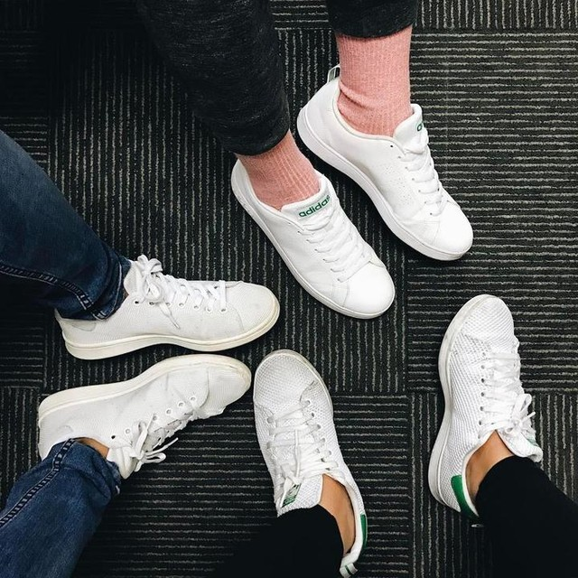 "Matchies with the ""men"" of the marketing team 👌🏽🤓 #work #stansmith #adidas"