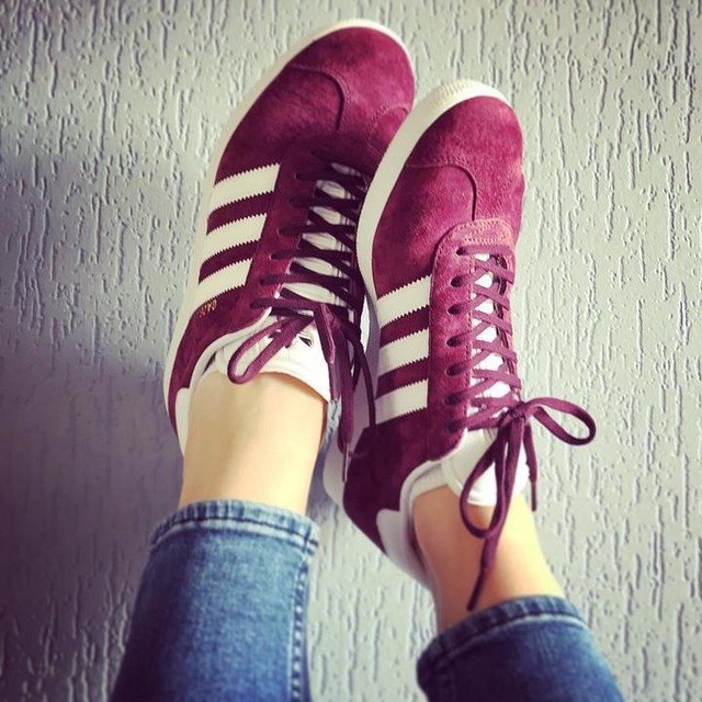 #inlove #newshoes #adidas #gazelle #burgundy #red #adidasgazelle #3stripesstyle #3stripes
