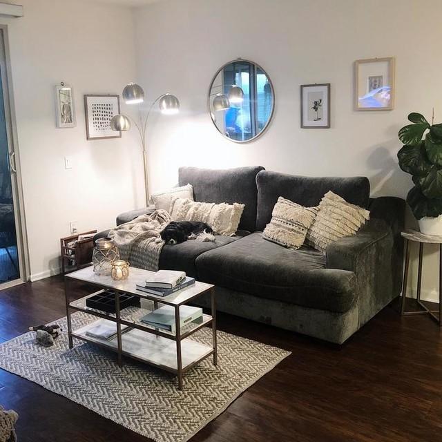 Lodge Foam Navy Blue Sofa