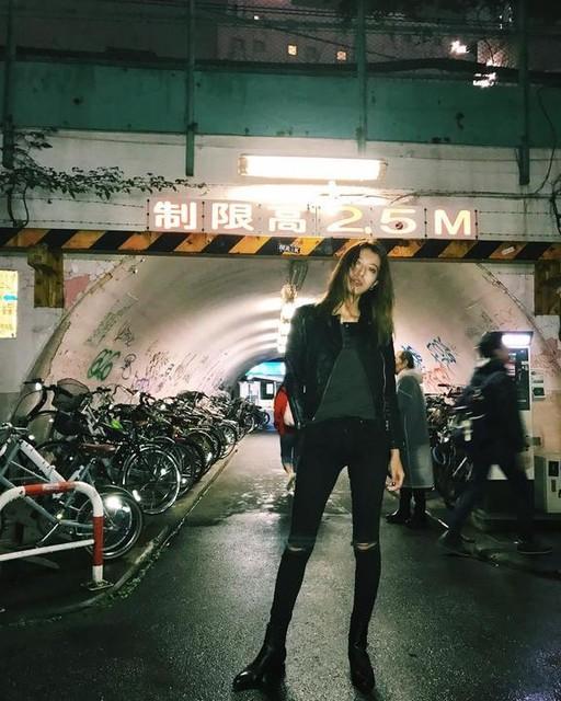 - Gidley Leather Biker Jacket