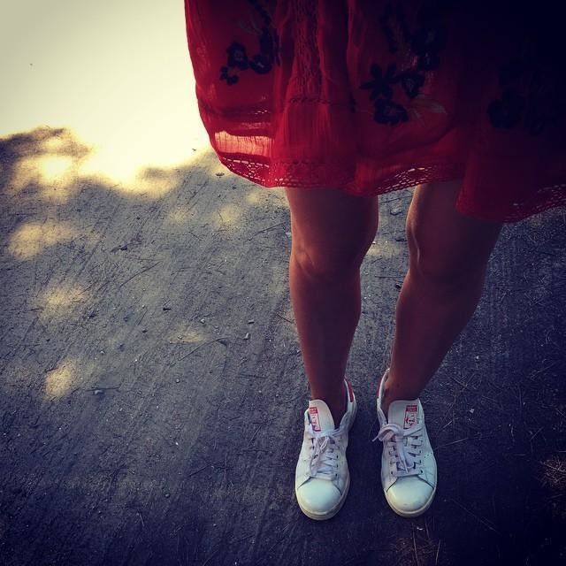 RED#al'ombred'unpin#stansmith#hot#sunday#sainttropez