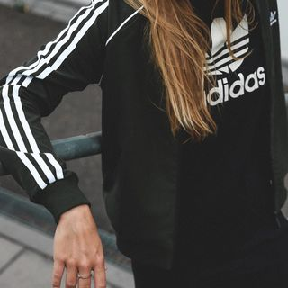 Maglia tuta Adidas track jacket SST CE2392 3 stripes nero