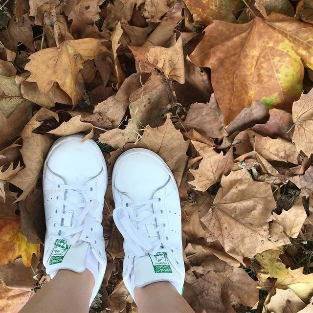 Conforto puro pro fds 👟👟🍁🍂 . . . #folhas #leaf #sneakers #tenis #adidas #stansmith #whitesneakers #white #fashion #fashionblog #blog #blogger #ootd #ootn #lacotovie #instagood #photography #moda #shoes #fds #conforto #style