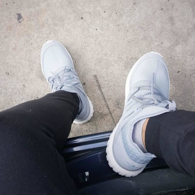 My first pair of Adidas sneakers, love the smell of new kicks 💯 #tubularradial #allowancehabis
