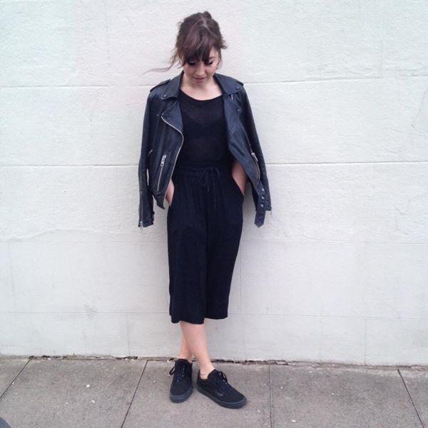 Ellen Gordon - Wyatt Zip Leather Biker Jacket