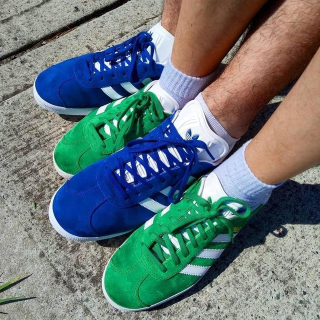Matchy Matchy 👟 #adidas #gazelle #originals #shoes #green #blue #matching