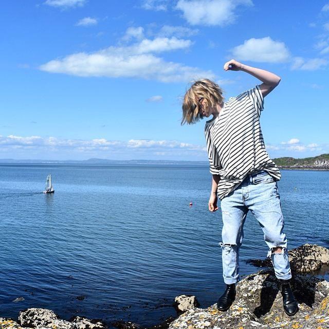 Tegan Whybrow - T-shirt Kleve Stripe