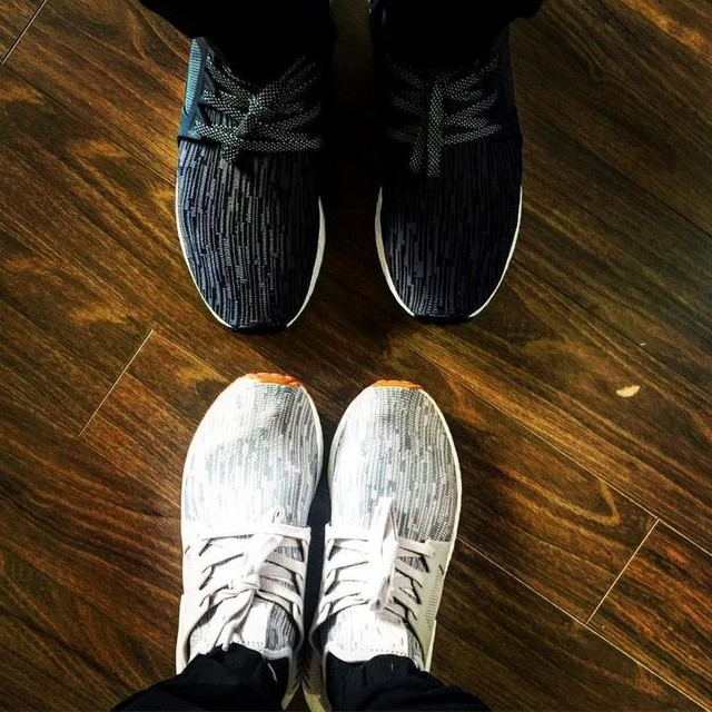new year new shoes with mr. man #yearoftherooster🐓 #adidasnmd #happychinesenewyear