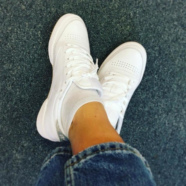 Feeling fancy at the Office - its a sneakers kind of day! #reebok #sneakerstime