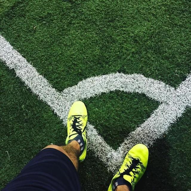 lets begin ... #FirstNeverFollows #X15 #soccer #futbol #game #sports #training #allin #adidas #chaos #field #rain #match