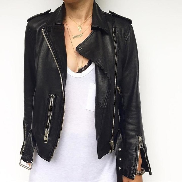 Kellye↟ - Balfern Leather Biker Jacket