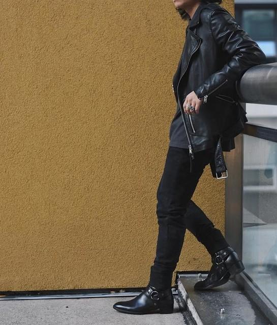 Marc Costales - Kaho Leather Biker Jacket