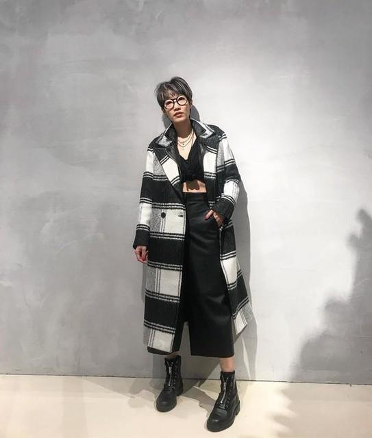 jilllee0630 - Lottie Wool Blend Check Coat