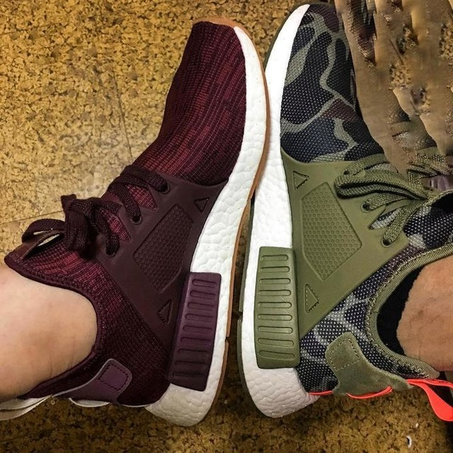 perfect shoes for a perfect time 👞👟 #christmascolor #adidas #nmd  #xr1 #wishgranted  #coupleshoes  @yeoj69 thank you😘😊