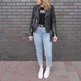 Natasha Amanda Hide. - Balfern Leather Biker Jacket