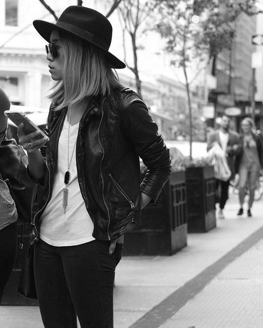 Lindsay Viola-Vu ➵ - Cazadora biker de cuero Balfern