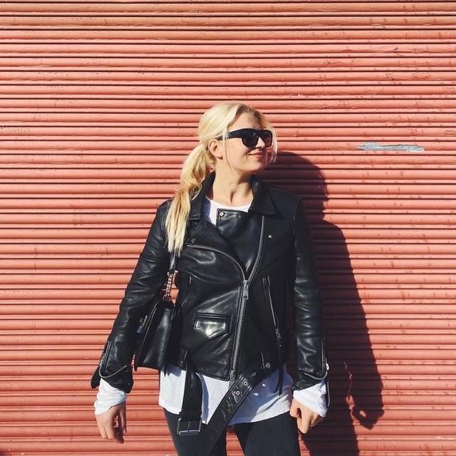 elina_jj - Luna Leather Biker Jacket