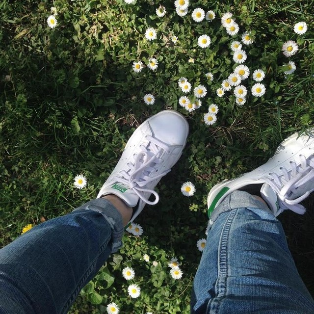 #stansmith #green #daisy #grass #myfavshoes #jeans #white #tumblr #adidas